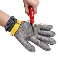 Проволока из нержавеющей стали Защитная сетка металлическая мясник перчатки порезов защищают перчатки