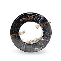 01 PJ-6мм диаметр фиктивная черный поддельной кабель провод для Поддельные пустышки камеры 5м 10м 20м длиной 50 м