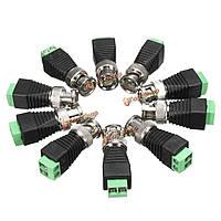10x коаксиальный cat5 6 Bnc камеры видеонаблюдения тв видео балун адаптер кабельного разъема