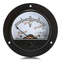 62c2 DC 0-20 метров испытания метр напряжения постоянного тока круговой напряжения измерения панели