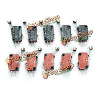 Wendao v-156-1c25 микровыключатель длинный шарнир Роликовый рычаг ограничения хода переключатели 10шт, фото 1