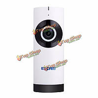ESCAM 720p Wi-Fi ночного видения 185° камеры широкоугольный объектив с двухсторонней обнаружения звука движения QP110 моаи