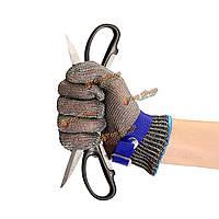Безопасность, вырезать доказательство удар нержавеющей стали металлические сетки мясник перчатка синий