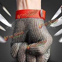 Безопасность порезов колото металлическая сетка из нержавеющей стали устойчивы размер мясник перчатки м