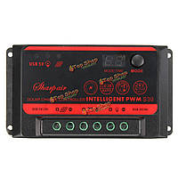 Регулятор панели солнечных батарей контроллер заряда батареи 12v 24v PWM 10A 20A 30A ЖК-дисплей