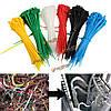 900шт 6 цветов 100мм х 2мм замок нейлона провода кабеля связи почтового индекса самоблокирующиеся