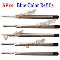 Защита пера металла шариковой заправок для Tactical 5pcs синий цвет универсальный LAIX B2 B006 B008 B009 q1