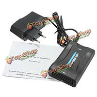 1080p MHL HDMI к Scart композитный видео конвертер стерео аудио адаптер HD для ТВ DVD