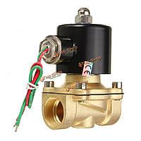 2W-200-20 AC220В 3/4-дюйма латунь клапан вода электрический соленоид воздуха топливо