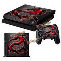 Кожи наклейка 2 контроллер PS4 протектор кожи PlayStation 4 Консоль