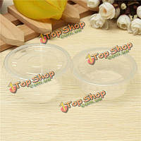 50шт одноразовые прозрачные пластиковые стаканчики с крышками 2oz/4oz