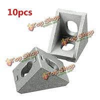 10шт 20x20мм алюминиевый угол сустава правой угловой скобкой мебельная фурнитура