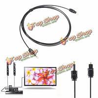 2m 3.5мм Toslink оптический цифровой SPDIF DVD аудио кабель провод вилка волокна
