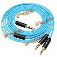 1.2m синий аудио кабель для золя республики мастер-треки HD V8 V10 наушники X3 v12