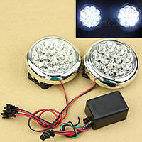 ПТФ ходовые огни ЛЕД LED светодиоды туманки фары, фото 1