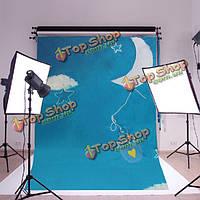 5x7 футов ребенка детей ткань фотографии фоном фон съемки фото студия реквизита Sky облако луна
