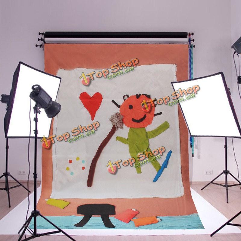 5x7 футов 1.5x2m мультфильм дети сердце ткань фотографии фон фонов фото студия реквизита - ➊TopShop ➠ Товары из Китая с бесплатной доставкой в Украину! в Киеве