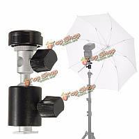 Поворот на 360 градусов Башмак вспышки зонтик держатель свет подставка Тип адаптер кронштейн Штатив с