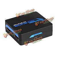 HDMI 1080p 3D 1х2 усилителя Mini сплиттера Support DTs Долби для ТВЧ StB DVD