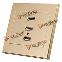 Объявление / DC USB смарт-зарядное устройство питания гнездо панели три порта
