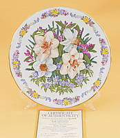 Тарелка настенная, костяной фарфор, Royal Grafton, Англия, прованс, фото 1