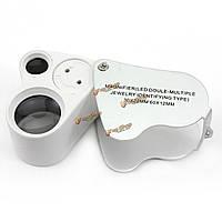 60X 30x увеличительное стекло увеличитель ювелира глаз лупу петли ювелирных свет водить