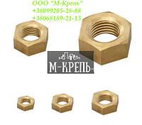 Гайка шестигранная латунная М18 ГОСТ 5915-70, ГОСТ 5927-70, DIN 934