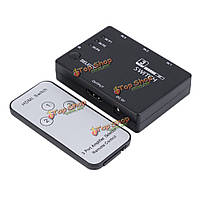 3x1 3 порта видео 1080p HDMI переключатель переключатель сплиттер IR пульт дистанционного управления для PlayStation 3 PS3 DVD HDTV