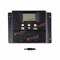 Широтно-импульсная модуляция 60a / 80a 12v / 24v ЖК-панель солнечной батареи контроллер Контроллер заряда солнечной домашней системы в помещении