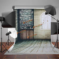 1.5x2.1m ретро кафе дверь окно без ткали доски съемки студия фотографии фоном фон