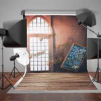 1.5x2.1m арочные двери Redwall доски съемки фото студия фотографии фоном фон