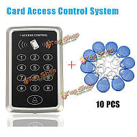 10 RFID система контроля доступа тегов + RFID бесконтактных карт RFID/EM контроля доступа клавиатуры карты открывания двери