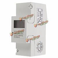 Dds238-2 цифровой 230В 5 (65) дин-рейку киловатт-час метр киловатт-часов LCD -дисплей