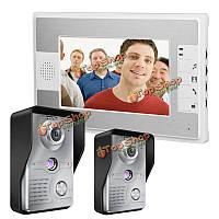 SYSD sy813mkw21 7-дюймов TFT LCD  видео домофон дверной звонок домофон комплект 2 камеры ночного видения монитор