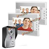 SYSD sy813mkw12 7-дюймов TFT LCD  видео домофон дверной звонок домофон комплект 1 камера 2 монитор ночного видения