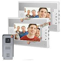 SYSD sy813ml12 7-дюймов видео домофон дверной звонок Интерком комплект с ночного видения камеры и мониторы 2