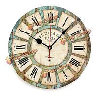 Марочные творческий круглый лес часы настенные кварцевые настольные часы