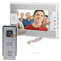 Эннио sy813ml11 7-дюймовый видео домофон дверной звонок Интерком комплект с камерой ночного видения и монитор