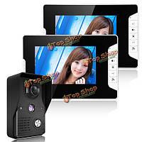 Enniosy 813mk12 7-дюймов TFT ЖК-видео домофон дверной звонок домофон комплект 1 камера 2 монитор ночного видения