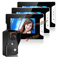 SYSD sy813mk13 7-дюймов TFT LCD  видео домофон Комплект дверной звонок домофон 1 камера 3 монитора ночного видения