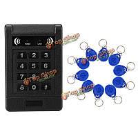 Поддержка контакт-менее индуктивный контроль доступа RFID-карт светящаяся клавиатура близости замок двери внешний