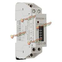Dds238-1 230В рельсового типа электронного типа мини-счетчик электроэнергии дисплей счетчика
