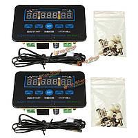 12v/220В 10А цифровой LED регулятор температуры регулирующий термостат датчик реле + датчик