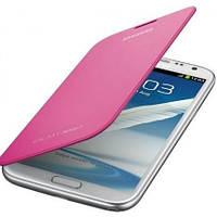 Чехол книжка Samsung EFC-1J9FPEGSTD для Galaxy Note II N7100 розовый
