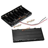 1шт 12v держатель зажима коробки корпус с черной крышкой переключатель для 8 AA 2a клетки батареи