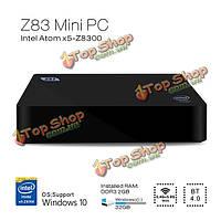 Z83 Windows 10 атом x5-z8300 2g/32г 4k 1000м Wi-Fi Miracast ротацию DLNA Б.Т. TV Box Windows мини-ПК