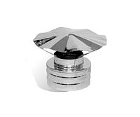 Грибок для  дымохода с нержавеющей стали двустенный (0,6мм)  Ø100/160