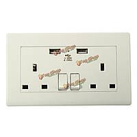 2 способ ик разъем питания с USB для зарядки порт подключения настенный корпус белый штекер