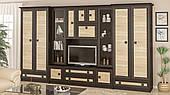 Стенка гостиная Мебель-Сервис Тристан венге темный