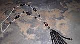 Длинные бусы - сотуар  «Гранат с черным агатом»  , фото 7